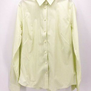 Banana Republic Button Down Shirt Green White M/10